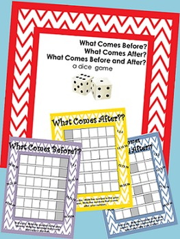 Dice Game- What Comes Before? After?