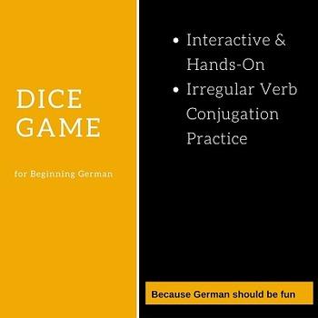 Dice Game for Irregular German Verbs