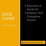 Dice Game for Irregular German Verbs