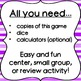 Dice Game for Math Centers - 1x1-digit Multiplication
