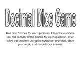 Dice Game with Decimals in All Operations