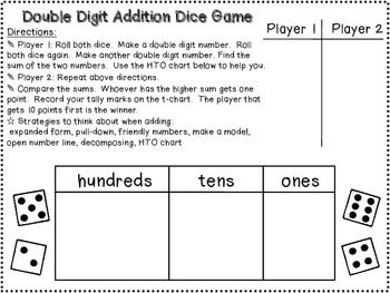 Dice Games Freebie