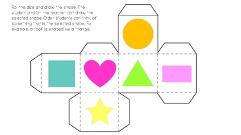 Dice: Speech, Colors, Letters, Numbers, Vocabulary, story telling, ESL, shapes
