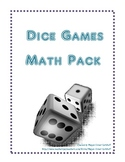 Dice Games Math Pack