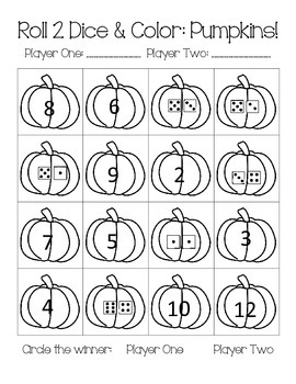 Dice Games (Numeral Recognition, Addition Practice, Counting)
