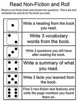 Dice Games - Reading and Language Arts - Freebie!