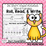 Roll, Read, and Write with Dice { Short Vowels Edition }