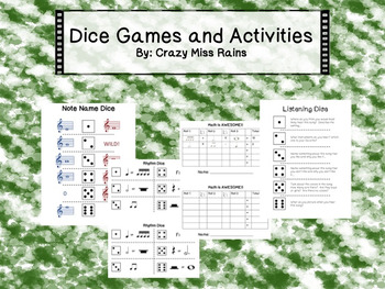Dice Games and Activities for Music Class