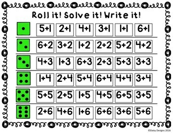 Dice Games for Math Centers - Vol. 3 - Addition and Subtraction
