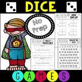 Dice Games for Math Work Stations