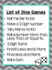 Dice Games for the Primary Classroom