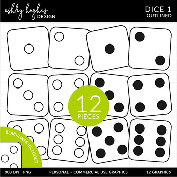 Dice Clipart {A Hughes Design}