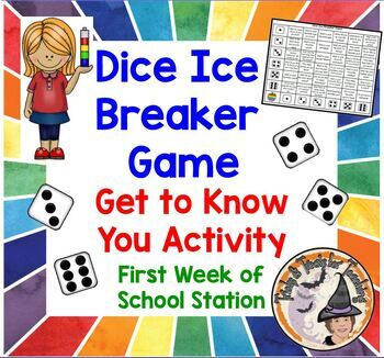 Dice Ice Breaker Game Get to Know You Activity Back to School First Day Station