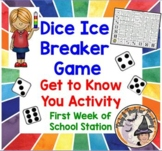 Dice Ice Breaker Game Get to Know You Activity Back to Sch