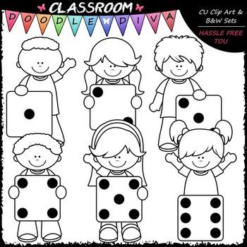 Dice Kids - Clip Art & B&W Set