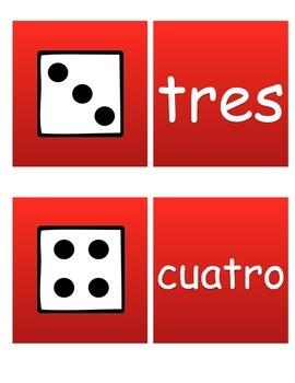 Dice Match the word Spanish!