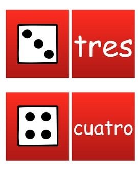 Dice Match the word Spanish!