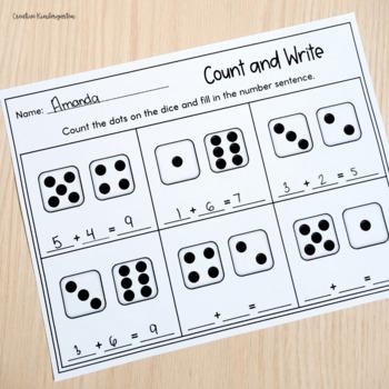 Dice Math Activities