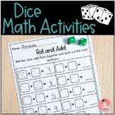 Dice Math Worksheets for Kindergarten Math Centers