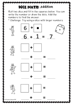 Dice Math: Addition, Subtraction, Multiplication and Division - Differentiated