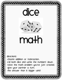 Dice Math, Addition and Subtraction