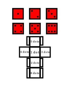 Dice Math Number Recognition Counting Dots Game Arts Crafts Activity Printable