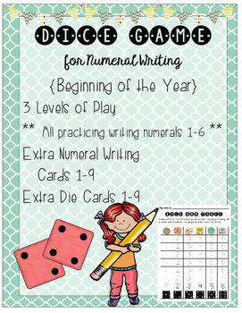 Dice Math: Roll and Write Numerals