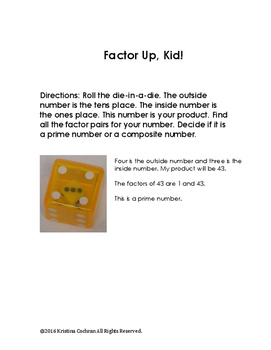 Dice Math: Using dice to make math fun.