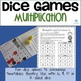 Dice Maths Games - Multiplication