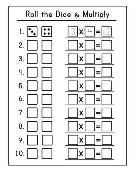 It is a picture of Satisfactory Printable Math Dice Games
