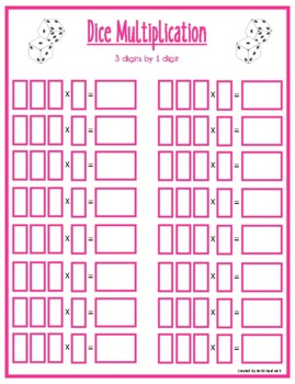 Dice Multiplication and Division