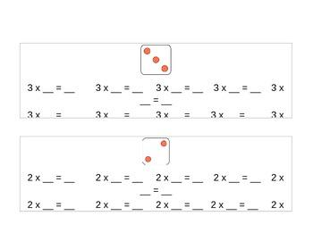 Dice Multiplication Book