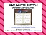 Dice Multiplication - Independent Work Task
