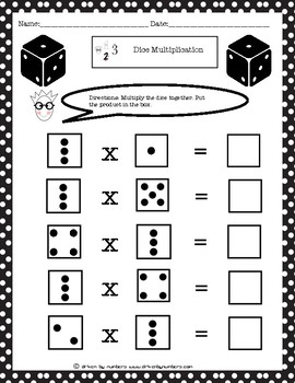Dice Multiplication: Multiples of 3