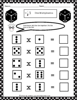Dice Multiplication: Multiplication with Products