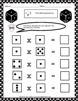 Dice Multiplication: Multiplying by 1
