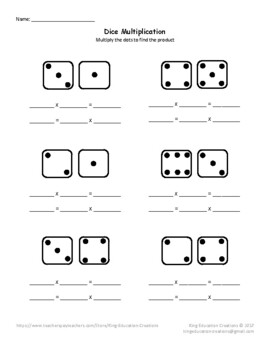 Dice Multiplication with dots