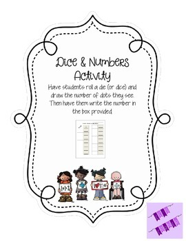 Dice & Numbers Activity