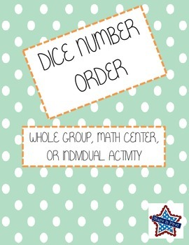 Math Dice Number Order Game (differentiated)