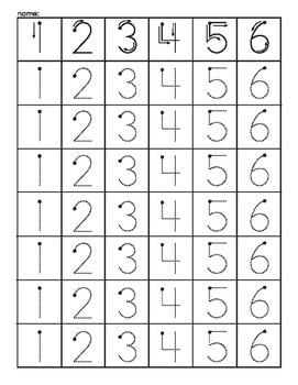 Dice Numeral Tracing
