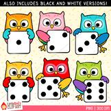 Dice Owls Clip Art