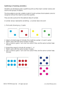 Dice Pattern Activities
