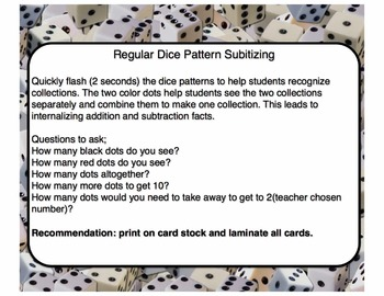 Dice Pattern Subitizing Cards