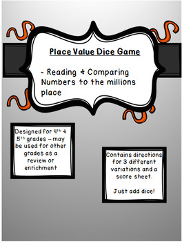 Dice Place Value Game