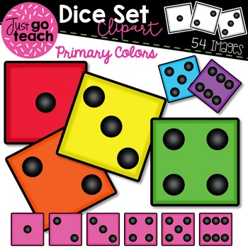 Dice {Primary Colors} Clipart