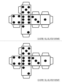 Dice Printable {Cut, Fold, Glue} FREEBIE