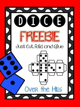 Dice Printable {Cut, Fold, Glue} FREEBIE