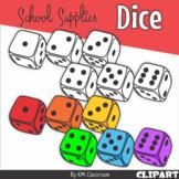 Dice Rainbow Black Dots School Supplies Clip Art