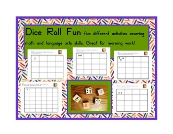Dice Roll Activities: Language and Math Skills