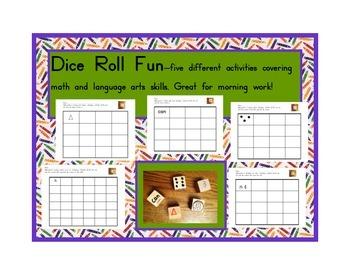 Dice Roll Activities: Language and Math Skills